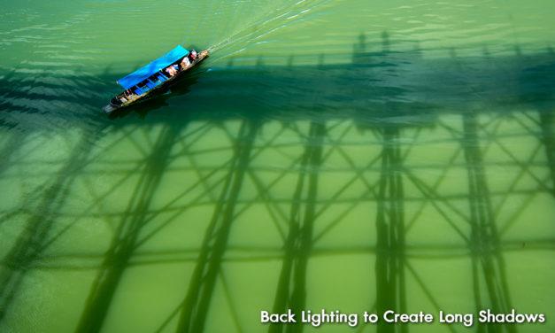Back Lighting to Create Long Shadows