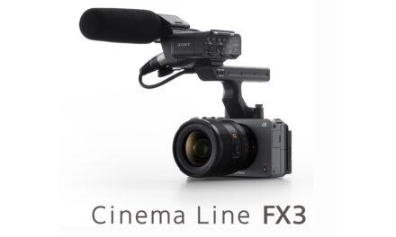 โซนี่ไทยเปิดตัว FX3 เสริมทัพกล้องฟูลเฟรมในตระกูล Cinema Line