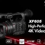 """Canon XF605"""" กล้องถ่ายวิดีโอระดับมืออาชีพ 4K"""
